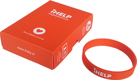 The iHELP bracelet contains an SOS ID code (web page) stamped on the inside of the bracelet that provides rescuers with immediate access to the medical data (illness, allergy and medication) of the injured person in case of emergency.
